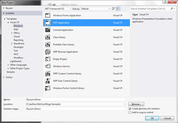Step 2 Install Elysium WPF Metro Controls