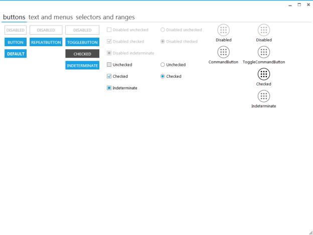 Elysium, Metro Style UI, Metro Style control application