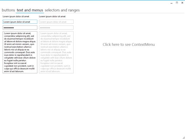 Elysium, Metro Style UI, Metro Style control application,Metro style text and menu
