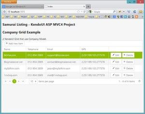 Add KendoUI Grid to ASP MV Project   SamuraiListing